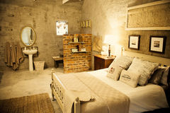 Double room in guesthouse Royalty Free Stock Photo