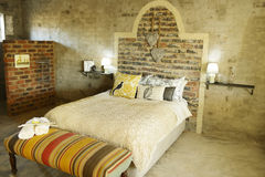 Double room in guesthouse Stock Photography