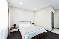 The double room in the hotel Royalty Free Stock Photos