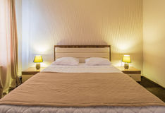 The double room in the hotel Royalty Free Stock Photography