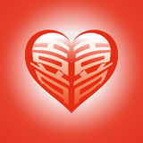 double rouge de bonheur Image stock