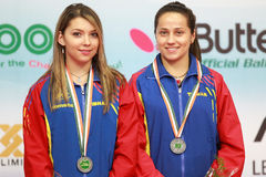 Double roumain de femmes Image libre de droits