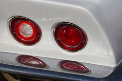 Double round tail lights royalty free stock photo