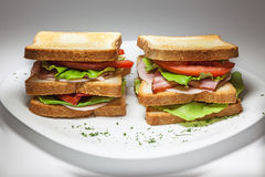 Double Sandwich royalty free stock images