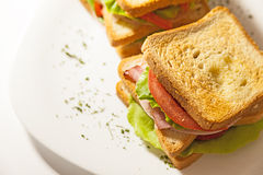 Double Sandwich Stock Photography
