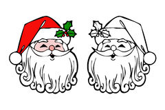 Double santa claus face Stock Photo