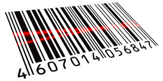 Double scanned BarCode Royalty Free Stock Photos
