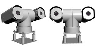 Double security cameras Stock Photography