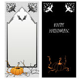 Double-side Helloween greeting card. Vector double-side Helloween greeting card Stock Photography