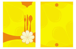 Double side Menu card design Stock Photo