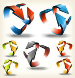 Double-sided Abstract Circular Arrows Stock Images