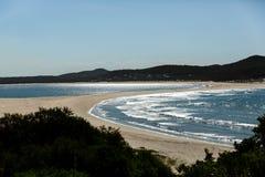 Double sided beach Nelson bay stock photos
