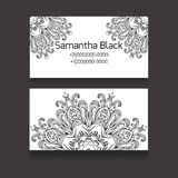 Double-sided black and white business card Royalty Free Stock Photography