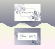 Double-sided business card in graphite color Stock Image