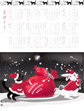 Double-sided calendar  2011. Vector illustration Royalty Free Stock Photos