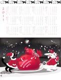 Double-sided calendar 2011. Vector illustration stock illustration
