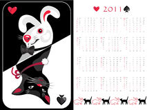 Double-sided calendar  2011. Vector illustration Stock Image