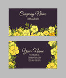 Double-sided floral business card Stock Photography