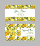 Double-sided floral business card Stock Photos