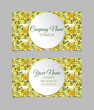 Double-sided floral business card Royalty Free Stock Photo