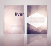 Double sided flyer design Royalty Free Stock Photos