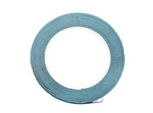 Double sided Foam Adhesive mounting tape isolated on white backg Royalty Free Stock Photo