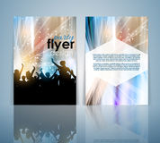 Double sided party flyer design Royalty Free Stock Photos