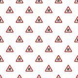 Double sided traffic pattern seamless. In flat style for any design Stock Photo