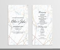 wedding program for party ceremony card design with elegant la