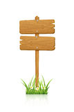 Double sign in grass Royalty Free Stock Photo