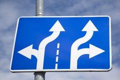 Double signe de flèche Image stock