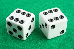 Double Six Dice Stock Image