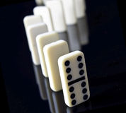 Double six domino leading the way Royalty Free Stock Photography