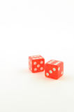 Double six on two dice Royalty Free Stock Images
