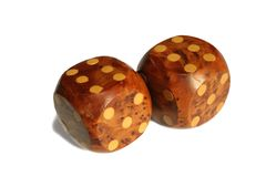 Double sixes on dice. Stock Photography