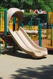 A double slide in a park Royalty Free Stock Photo