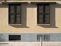 Double sliding windows. With shadow Stock Photo