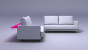 Double sofas Royalty Free Stock Photo
