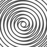 Double Spiral Background. Whirlpool. Optical Illusion. Vector Stock Photo