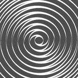 Double Spiral Background. Whirlpool. Optical Illusion. Vector Royalty Free Stock Photo