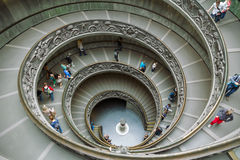 Staircase in vatican museum, Rome, Italy Stock Photos