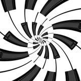 Double spirale de clavier Images libres de droits