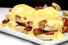 Double stacked eggs benedict Royalty Free Stock Image