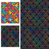 Double star combine colorful symmetry seamless pattern Royalty Free Stock Image