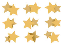 Double Stars Patterns Art Element Isolated on White Stock Photos