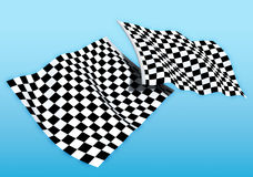 Double start flag Stock Photos