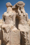 Double statue of Sekhmet goddess Stock Photography