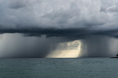 Double Storms. At sea meet Stock Photo