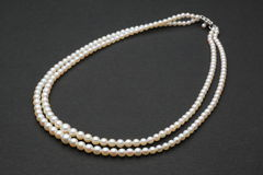 Double strand of pearls Stock Photography