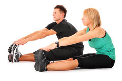 Double stretching Stock Photos